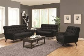 Retro Living Room Furniture Sets Coaster Natalia Retro Sofa W Flared Arms Coaster Fine Furniture