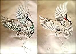 "Dancing Cranes"" by Beth Linz   Crane bird, Abstract artwork, Artwork"