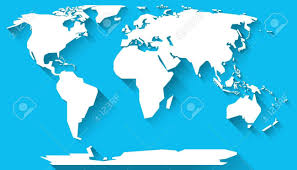 World Map Flat Design Interesting World Map With Contenents All Continents Of