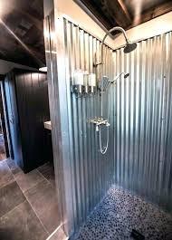 corrugated metal shower corrugated metal shower corrugated metal outdoor shower corrugated sheet metal shower walls