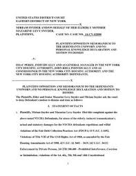 Nycha Sanctionable Motion Response Opposition Motion By Prayer