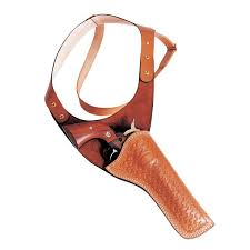 shoulder holster tan black or brown basket weave or plain