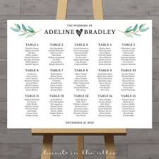 Aragon Seating Chart Wedding Seating Chart Large Poster Table Seat Assignment
