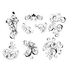 Set of victorian design elements vector