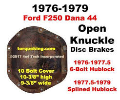 Dana 44 Front Axle Shaft Length Chart Dana 44 Axle Identification To Fit 1977 5 1979 Ford F250