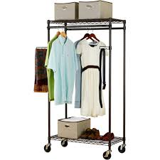 Heavy Duty Coat Rack With Shelf Canopy HeavyDuty Garment Rack Bronze Walmart 18