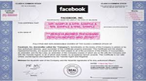 Selling A Share Certificate Facebooks Ipo What We Know Now