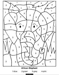 Color By Number Winter Worksheets Worksheets