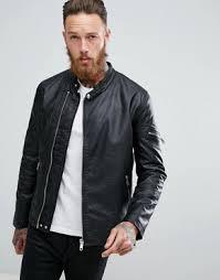 moto leather jacket mens. asos faux leather racing biker jacket moto mens