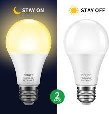 Day And Night Light Sensor Led Bulb Govee Dusk To Dawn Light Bulb 9w 70 Watt Equivalent 800lm Smart Sensor Led Light Bulb E26 E27 Automatic On Off Indoor Outdoor Lighting Bulb For