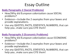 good morning please take out a sheet of paper and answer the 9 essay outline body paragraphs 2 social problems