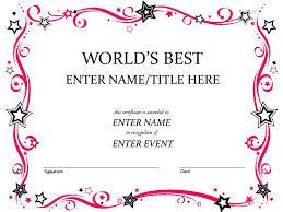 Best Certificate Templates Custom Certificate Templates