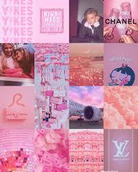 80 pcs Pink Aesthetic Collage Kit ...