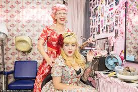 the mother of two keeps herself busy with her own 50s inspired business boogie bop