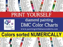 To view/print a free color wheel chart, click the respective link to open it, and select print from the menu. Printable Pdf Dmc Color Charts Diamond Painting Drill Color Etsy