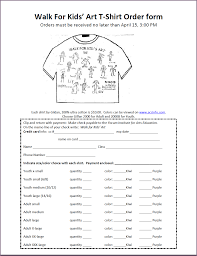 T Shirt Order Forms T SHIRT ORDER FORM Proposalsampleletter 16