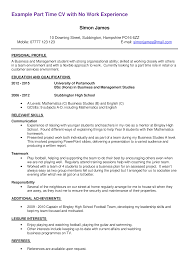 First Time Job Free First Part Time Job Resume Sample Templates At