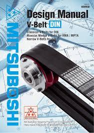 Mitsuboshi Belt Size Chart Mitsuboshi Din Timing Belt Design Manual Manualzz Com