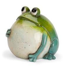 garden frog statue. Big Belly Ceramic Frog Garden Statue -