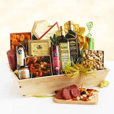 ultimate meat cheese wooden crate gift basket