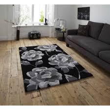 hong kong hk 793 black grey rug by think rugs