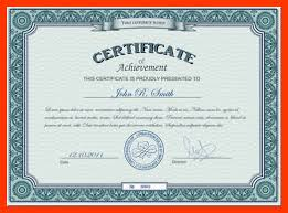 Computer Certificate Format Extraordinary 48 Computer Certificate Format Free Download Handyman Resume