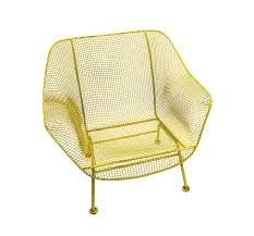 elvis presley owned yellow wrought iron mid century modern patio chair