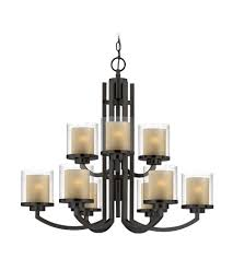 dolan designs 2952 78 horizon 9 light 30 inch bolivian bronze chandelier ceiling light in outer clear seedy inner honey amber