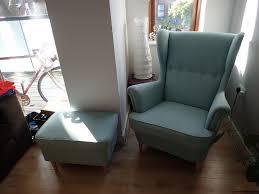 ikea strandmon armchair footstool brand new 200 euro in dublin thumbnail