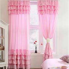 Pink Curtains For Bedroom 7 Tiered Ruffle Curtain Panel Bedrooms Curtains For Bedroom And