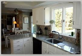 oak cabinets painted whitePainting Kitchen Cabinets White Before and After  Decor Trends