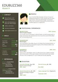 Resume Templates Modern Design Creative Green Modern Resume Template Modern Professional Resumes 14