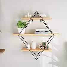 wood wall shelves shelf retro style