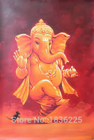 Small Picture Aliexpresscom Buy Wall Sticker Handmade Ganesh Oil Painting on