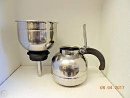 Carafe is made of durable stainless steel and it will generally speaking, we offer free shipping for stainless steel vacuum coffee insulation pot to united states (us, usa), united kingdom (uk, gb). Vintage Nicro Stainless Steel Vacuum Coffee Pot Model 472a No Spring Filter 1872710525