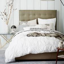 organic cotton pintuck duvet cover shams white west elm with regard to new property pinch pleat duvet cover ideas
