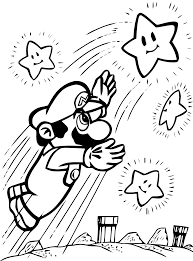 Coloriage De Mario Anti Stress