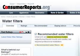 Drinking Water Filter Comparison Chart And Table