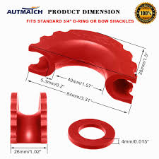 D Ring Shackle Size Chart Autmatch Pack Of 2 D Ring Shackle Isolators Washers Kit 2