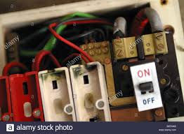 old electrical fuse box stock photo royalty image 8977864 consumer unit box electrical fuse box old wire fuse type in a 1970 s house stock