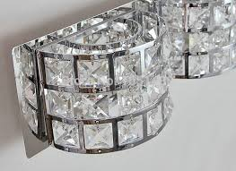 collection in crystal bathroom lighting s modern chrome crystal mirror lamp bathroom light led lighting
