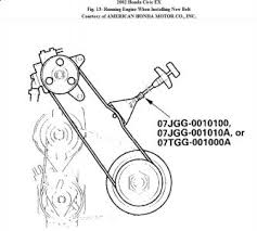 Repair Guides   Engine Mechanical  ponents   Accessory Drive also Where can i get schematic  it is not on engine or hood  for together with  additionally Belt squeal when engine is cold and heater fan is turned on as well  in addition 1994 Honda Civic Serpentine Belt Routing and Timing Belt Diagrams furthermore 2003 Honda CRV Seprentine Belt  2003 Honda CRV 4 Cyl Two Wheel moreover Serpentine belt replacement in addition Timing Belt Change   Months or Miles if car is old    Page 2 moreover Repair Guides   Engine Mechanical  ponents   Water Pump likewise Gates 2002 2005 Honda Civic Si Gates Serpentine Automotive V. on 2002 honda civic serpentine belt repment