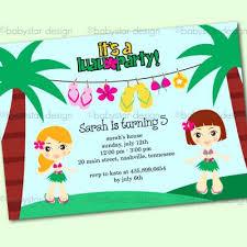 Hawaiian Pool Party Invitations Hawaiian Party Invitations Staggering Party Invitations Luau Party