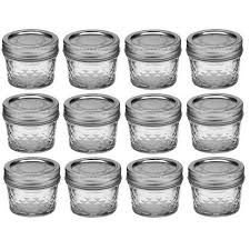 kerr 4 oz quilted crystal jelly jars 12 jars