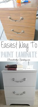 how to paint laminate nightstands
