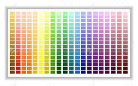 Color Shade Chart Color Palette Color Shade Chart Vector Illustration