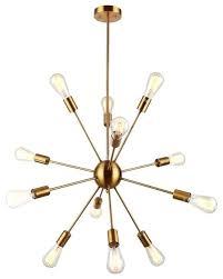 modern sputnik chandelier brass pendant light sputnik chandelier vintage ceiling light fixture modern mid century modern