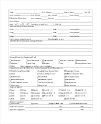 Employee Incident Report Template Enchanting Workers Compensation Employee Incident Report Form Free Templates
