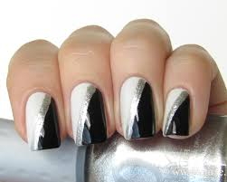 Black and Silver Nail Art   Nail Art Designs & Ideas   Nails ...