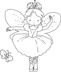 Barbie Mariposa And The Fairy Princess Coloring Pages For Girls ...